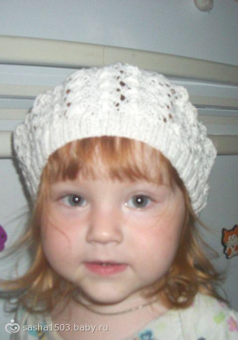 связать шапку спицами для девочки для