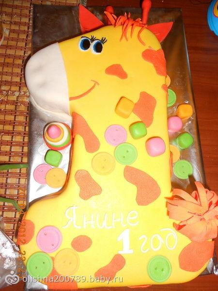 Как самой украсить торт на годик сыну