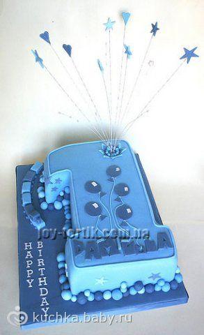 Как сделать единичку на годик торт