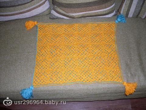 Теплые и уютные .  Ажурная накидка на табурет, Вязание крючком для кухни модели.