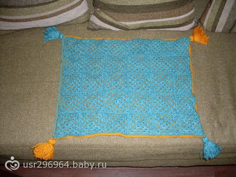 вязание накидки на стулья