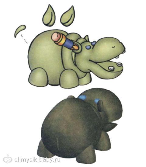 Как сделать бегемота из