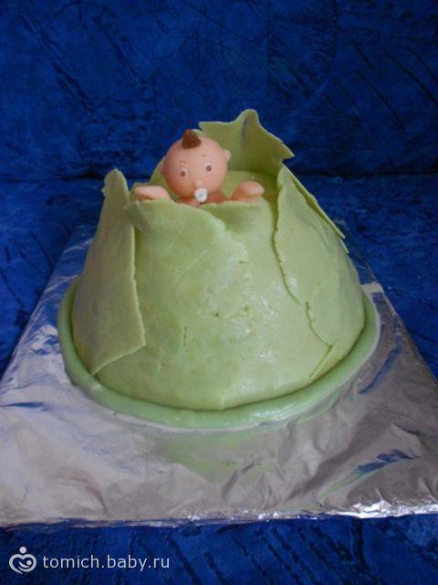 Торт капуста с младенцем фото
