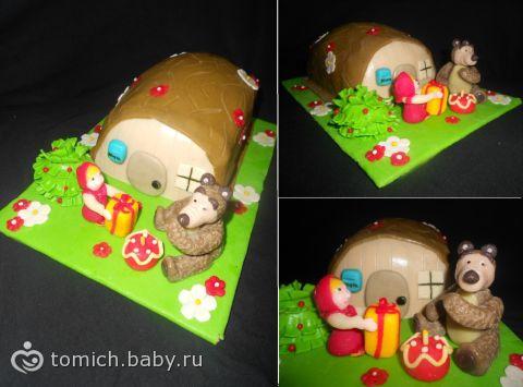 "Торт  ""Маша и медведь на полянке """