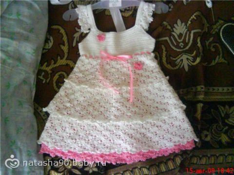 Детские платья вязанные