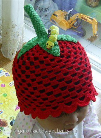 Схема вязания крючком детской зимней шапочки.