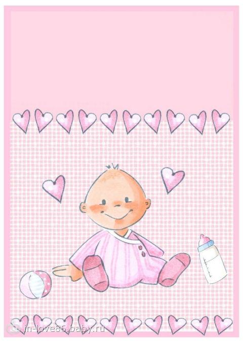 Открытка новорождённой девочке 51