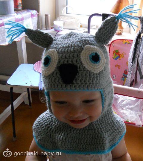 Схема вязания детских шапка шлем.