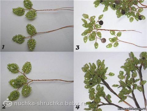 """буду плести из бисера дерево  """"сакура """")может что получится."""