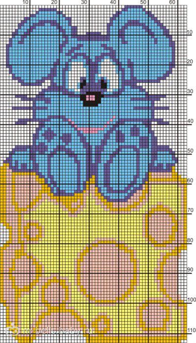 тут схемы цветного вязания