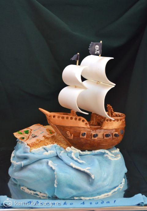 Детские торты корабль на заказ фото