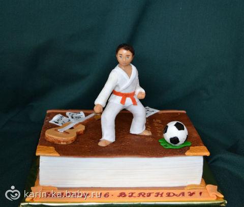 Торт на тему каратэ фото