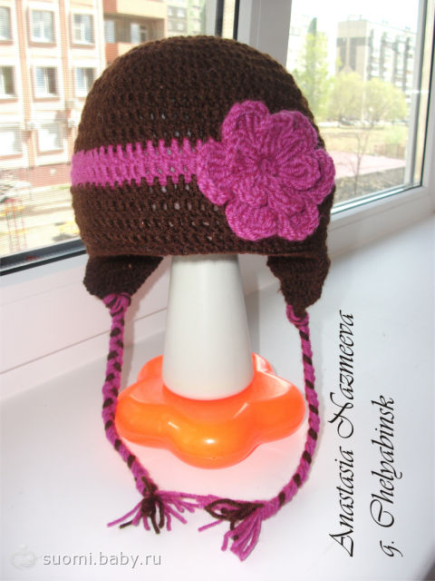 шапка на девочку 9 лет крючком схемы