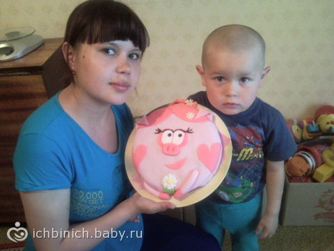 Маша и медведь рыбалка торт фото 1