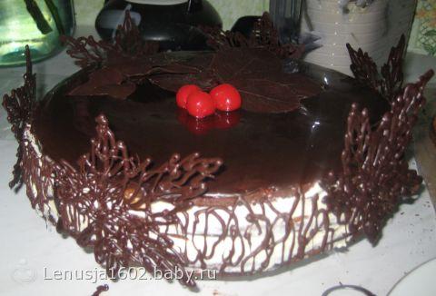Украсила тортики, своими руками!