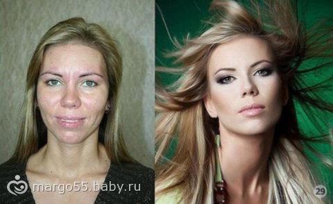 Сила макияжа. фото.