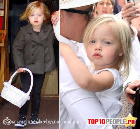 Биологическая дочь Анжелины Джоли и Бреда Пита