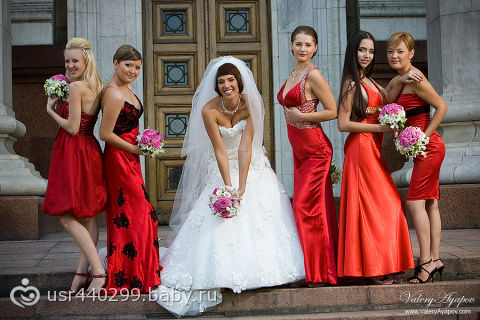 Подруги невесты красное