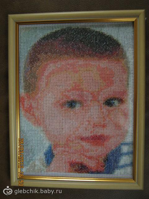 Вышитые портреты крестиком ВКонтакте