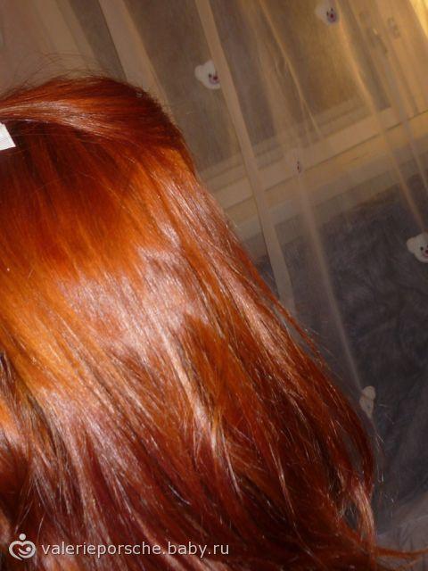 рыжая краска как ложиться на черные волос